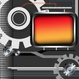 Engranajes y marco metálico Imagenes de archivo
