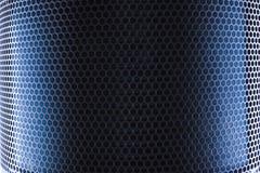 Engranzamento azul do metal imagem de stock