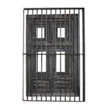 Engranzamento da porta e do ferro isolado Imagens de Stock