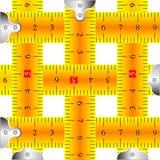 Engranzamento de medição das fitas Imagens de Stock Royalty Free