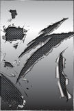 Engranzamento rasgado do metal e do aço ilustração do vetor