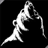 Engrave isolated bear illustration vector sketch linear art stock photo