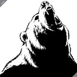 Engrave isolated bear illustration vector sketch linear art royalty free stock image