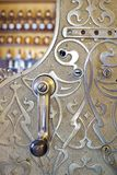 Engraved cash register in shop Royalty Free Stock Image