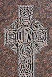 Engraved Celtic Cross Stock Photos
