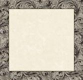 Engraved Damask Copy Space Royalty Free Stock Images