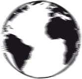 Engraved earth Royalty Free Stock Photography