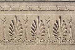 Floral ornament engraved on a stone surface Royalty Free Stock Photos