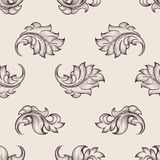 Engraved floral pattern Stock Image