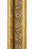 Engraved gold detail. Detail of engraved frame in pure gold royalty free stock photos