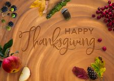 Engraved Happy Thanksgiving Stock Images