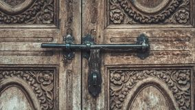 Engraved Metal Door Texture Background Royalty Free Stock Images