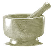 Engraved Mortar and Pestle Stock Images