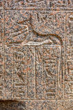 An engraved relief of the canine god Anubis in Memphis in Egypt. Royalty Free Stock Photography