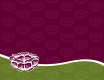 Engraved Rose Background. Engraved Rose on a Purple and Green Background Stock Images