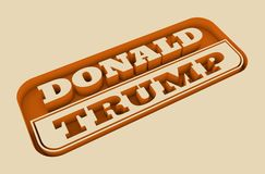 Engraved stamp with Donald Trump text Stock Images
