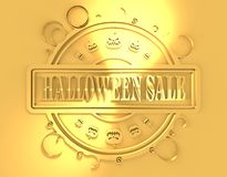 Engraved stamp with Halloween Sale text Royalty Free Stock Photography