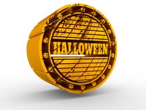 Engraved stamp with Halloween text Royalty Free Stock Images