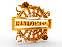 Engraved stamp with Halloween text Royalty Free Stock Image