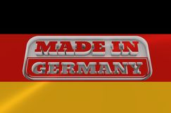 Engraved stamp with made in Germany text Stock Images
