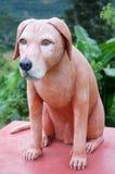 Engraved stone dog Stock Images