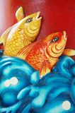 Engraved stone fish Royalty Free Stock Photo