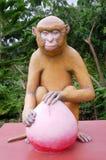 Engraved stone monkey Royalty Free Stock Image