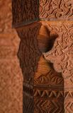 Engraved wall in Fatehpur Sikri complex, India Stock Photography