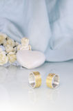 Engraved wedding rings 2 Royalty Free Stock Photography