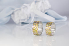 Engraved wedding rings 1 Stock Photo