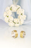 Engraved wedding rings 3 Stock Image