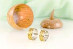 Engraved wedding rings 6 Stock Photo