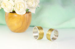 Engraved wedding rings 7 Stock Image