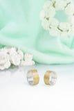 Engraved wedding rings 5 Stock Photos