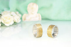 Engraved wedding rings 8 Royalty Free Stock Images