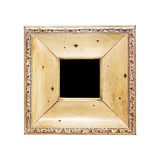 Engraved wooden frame Royalty Free Stock Photography