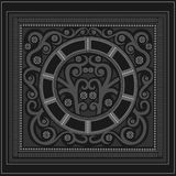 Engraving abstract print vintage background Stock Images