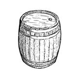 Engraving barrel beer wine Stock Image
