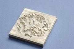 Engraving dragon Stock Photo