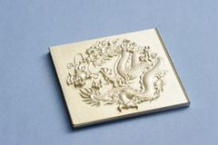 Engraving dragon Stock Images