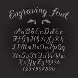Engraving font set Royalty Free Stock Photography
