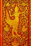 Engraving idol of angel from Thai fairy Stock Photo
