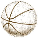 Engraving  illustration of basketball ball Stock Images