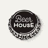 Craft beer bottle cap with brewing inscription in vintage style Stock Photography