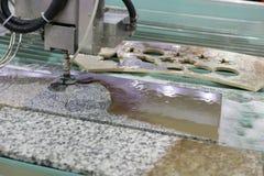 Engraving machine carving patterns Stock Photo