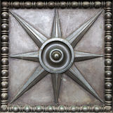 Engraving of metal star. Art engraving of metal star royalty free stock image