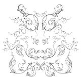 Engraving ornament vector Stock Photo