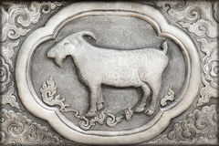 Engraving of the silver value, Zodiac symbol Royalty Free Stock Photography