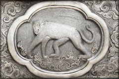 Engraving of the silver value, Zodiac symbol Stock Photography