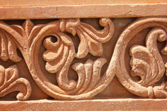 Engraving structure in jain temple Royalty Free Stock Images